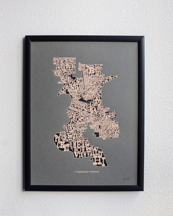 Neighborhoods of Sacramento 2nd Edition Limited-Edition Screen Print by Amber Witzke