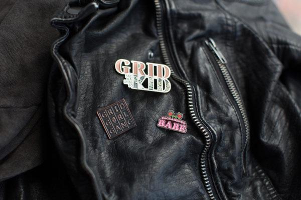 Enamel Pins by Amber Witzke: Sacramento Grid Kid, Sacramento Babe, Grid Girl Gang