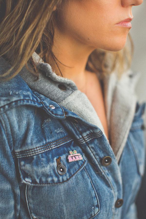 Sacramento Babe Enamel Pin by Amber Witzke