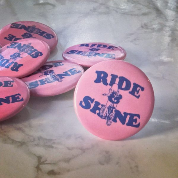 Ride and Shine Button by Amber Witzke
