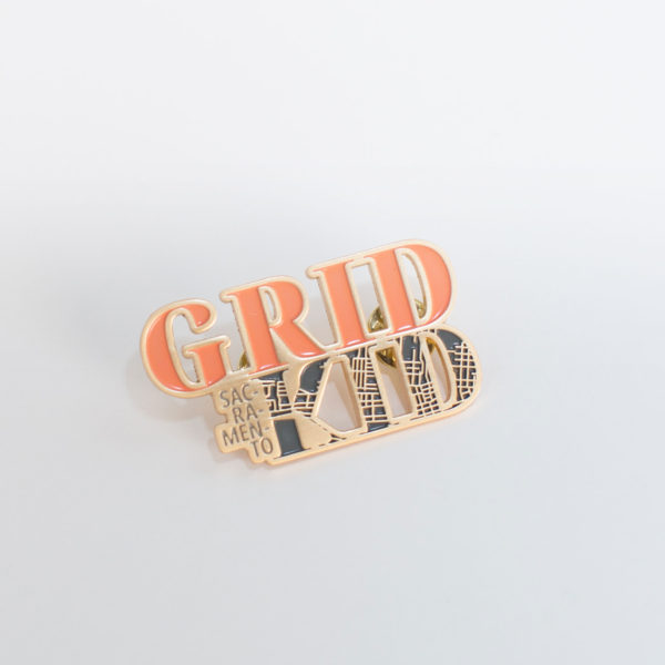 sacramento grid kid enamel pin
