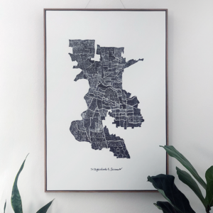 Neighborhoods of Sacramento Giclee by Amber Witzke