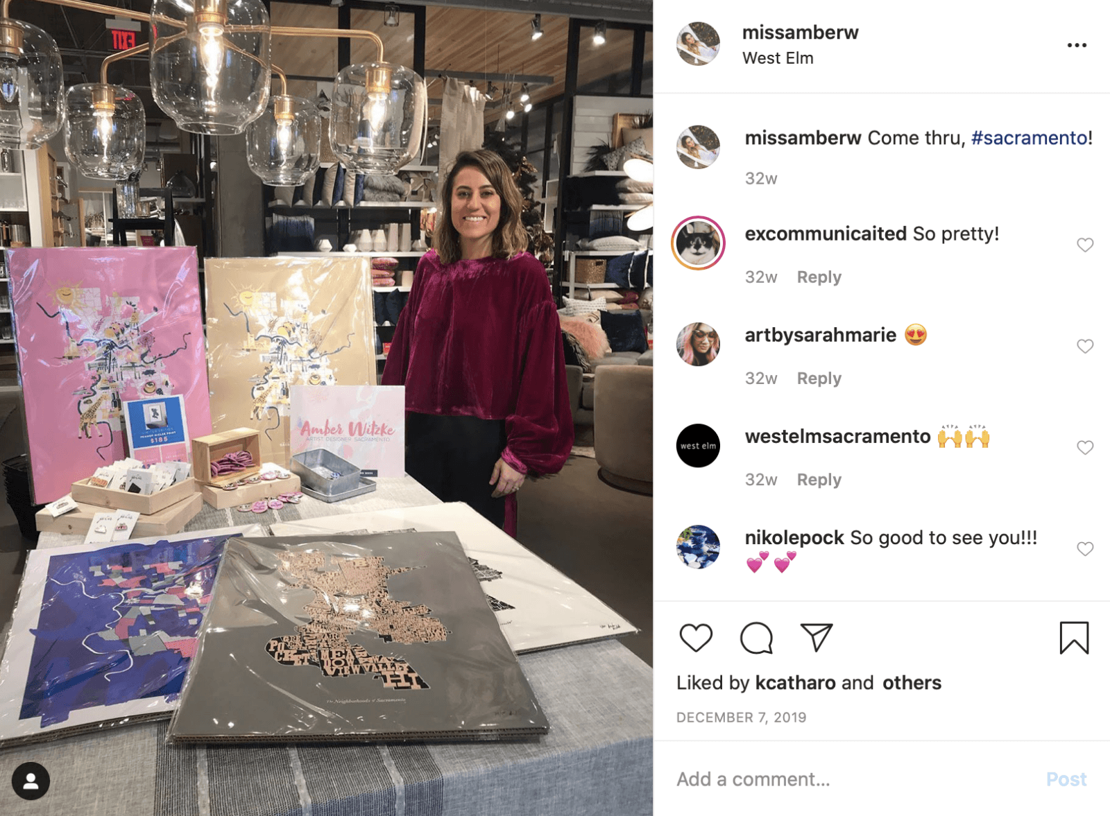 Amber Witzke Pop-Up at West Elm